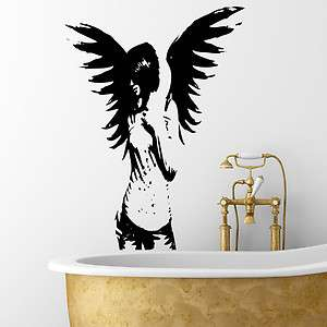 Gothic Angel Fairy Wall Decal Sticker Wall Hanging Self Adhesive 18