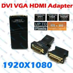 USB To VGA/DVI/HDMI Multi Display Adapter Converter